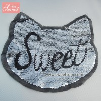 custom sweet animal sequin embroidery design factory