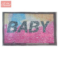Custom reversible rectangle spangle sequins sheet