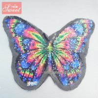 factory outlet butterfly pattern spray paint sequin patches for garment