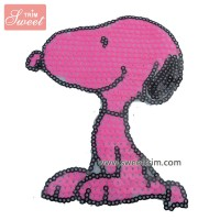factory custom make snoopy designs wholesale sequin applique cheap
