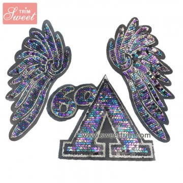 factory outlet reversible sequin designs embroidery patches