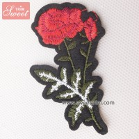 Custom sew on and iron on 3d flower applique embroidery flower patches