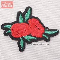 factory outlet custom embroidery patches for saree jeans clothing