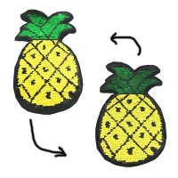 supply popular sequin badge pineapple sequin design