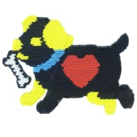 Small MOQ Reversible Sequin Embroidery Patch for T-shirt