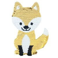 OEM Fashion Reversible Custom Sequin Embroidery Patch