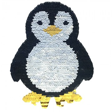 factory direct customize   discount reversible lady fashionable cute hot sequins penguin  embroidery accessory
