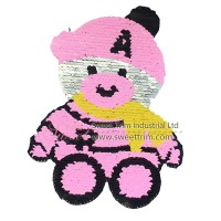 factory wholesale baby bear embroidery sequin style for children
