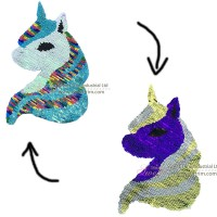 factory direct customize   discount reversible lady fashionable cute hot sequins horse  embroidery accessory.