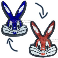 High quality wholesale new design popular reversible sequin designs embroidery patches